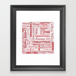 Christmas Typography Framed Art Print