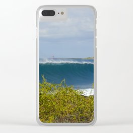 Galapagos Breaking Wave Clear iPhone Case