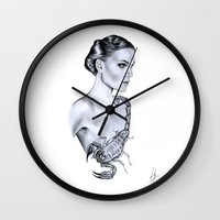 scorpio Wall Clocks featuring Scorpio by Libby Watkins Illustration