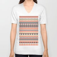 bohemian V-neck T-shirts featuring Bohemian  by emain