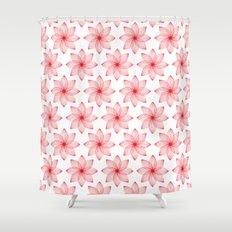 Gradient Strings Blossoms Shower Curtain