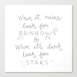 Dark and rainy, colourful and bright Canvas Print