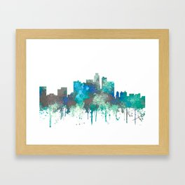 Los Angeles Skyline - SG Jungle Framed Art Print