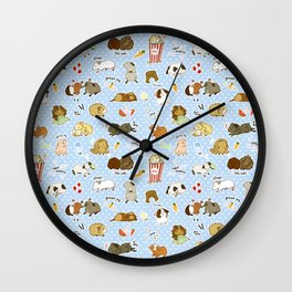 Guinea Pig Party! - Cavy Cuddles and Rodent Romance Wall Clock
