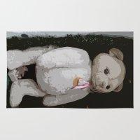 teddy bear Area & Throw Rugs featuring Teddy Bear by Christiane W. Schulze Art and Photograph