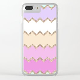 AVALON PINK Clear iPhone Case