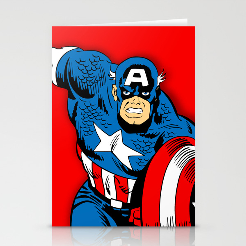 Captain Comic America Stationery Cards by Israel27 CRD8744681