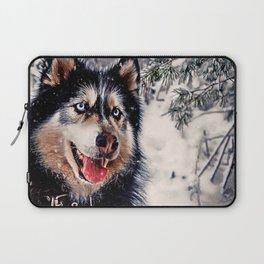 Playful Husky Laptop Sleeve