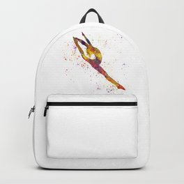 Rhythmic gymnastics competition in watercolor 03 Backpack