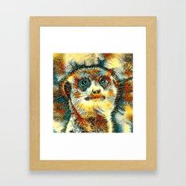 AnimalArt_Meerkat_20170603_by_JAMColorsSpecial Framed Art Print