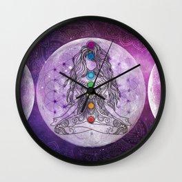 Golden Ascension Deep Purple Wall Clock