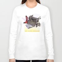 typewriter Long Sleeve T-shirts featuring Typewriter by Nancy L. Hoffmann