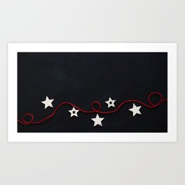 Stars on a Red Rope (Color) Art Print