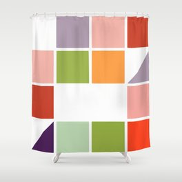 Pastel cube Shower Curtain