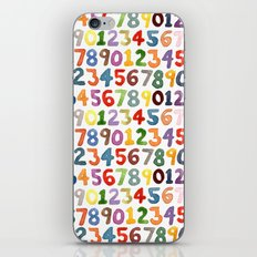 Watercolor Numbers iPhone & iPod Skin