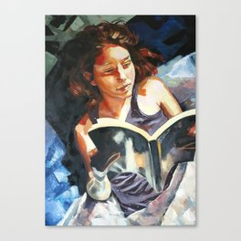 Night Reader Canvas Print