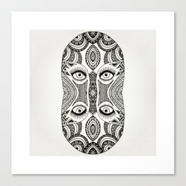 Fused faces Canvas Print