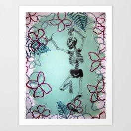 Dancing Bones Art Print