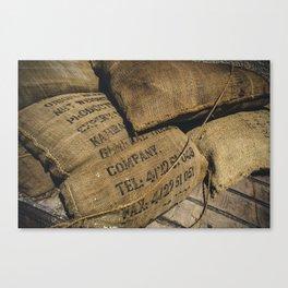 Coffee sacks Canvas Print
