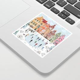 winter town Sticker
