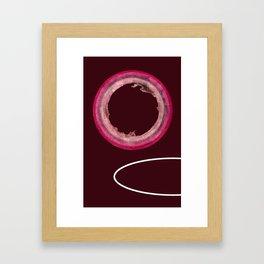 fragile surface double edge venice Framed Art Print