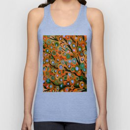 Fall Red Leaves Tree Unisex Tank Top