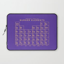 Periodic Table of Burger Elements - Purple Laptop Sleeve