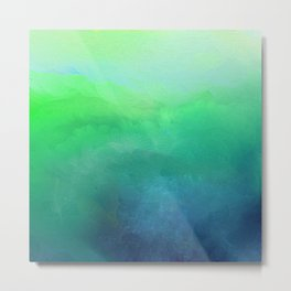 Blue and Green Sea Impressions Metal Print