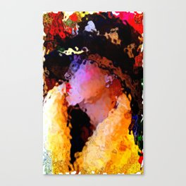 Summer's Over: The Girl In The Harlequin Hat Canvas Print