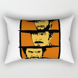 The Good,the Bad and the Ugly art Rectangular Pillow