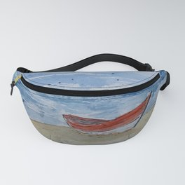 Red boat watercolour Fanny Pack