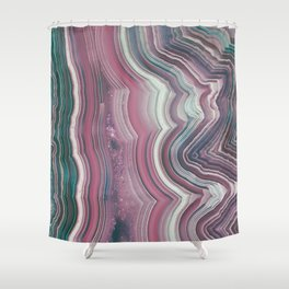 Candy Floss Agate Slice Shower Curtain