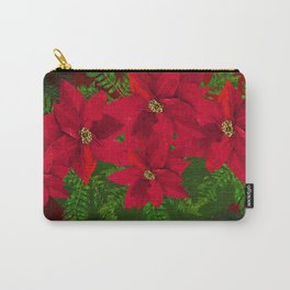 RED POINSETTIAS IN A BOWL Carry-All Pouch