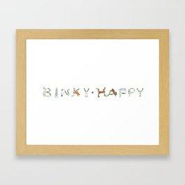 BINKY HAPPY Rabbits Framed Art Print