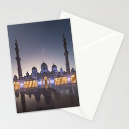 White Mosque in Abu Dhabi Stationery Cards