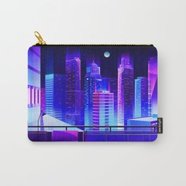 Synthwave Neon City #11 Carry-All Pouch
