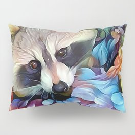 Peekaboo Raccoon Pillow Sham