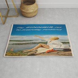 Vintage poster - Finland Rug