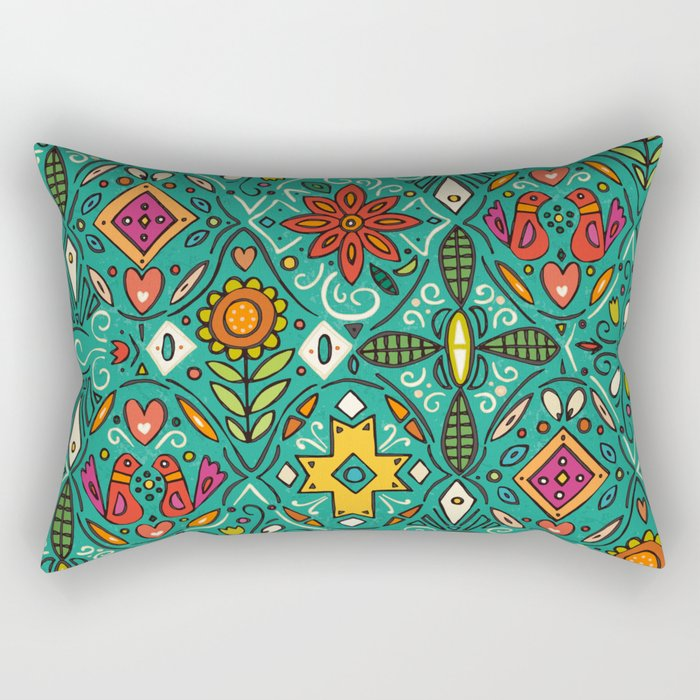 zoryana teal Rectangular Pillow