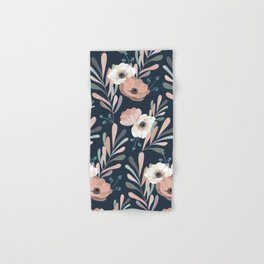 Anemones & Olives blue Hand & Bath Towel