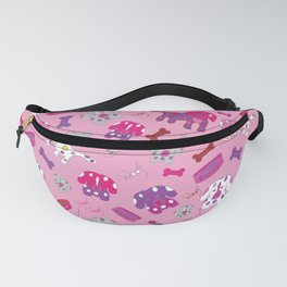 Pink, Purple, & Puppies Fanny Pack