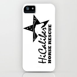 High Caliber Horse Rescue iPhone Case