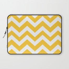 Sunglow - yellow color - Zigzag Chevron Pattern Laptop Sleeve