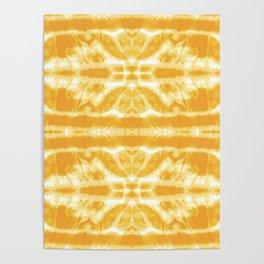 Yellow Tie Dye Twos Poster
