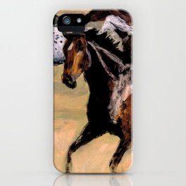 Galloping Horse Close-Up iPhone Case