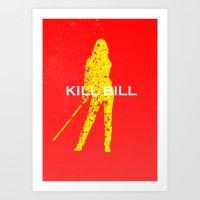 kill bill Art Prints featuring Kill Bill by Ehab Hassouna