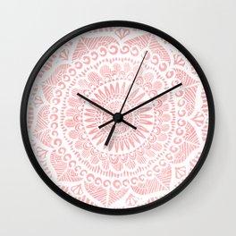 Blush Lace Wall Clock