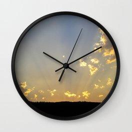Montana Sunset Wall Clock