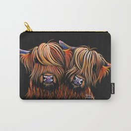 Scottish Highland Cows ' PALS ' by Shirley MacArthur Carry-All Pouch
