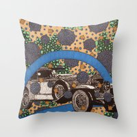 car Throw Pillows featuring Car by Aimee Alexander